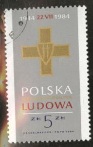 Poland Scott 2630 Used favor canceled stamp 1984