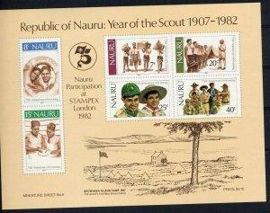 1982 Nauru 75th anniversary of World Scouting SS