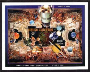 Central African Republic 1177 Space Souvenir Sheet MNH VF