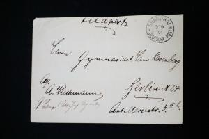 Germany Cancelled and Backstamped Early Cover