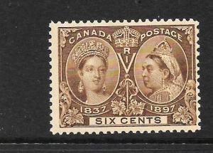 CANADA 1897  6c  JUBILEE    MNH    Sc 55