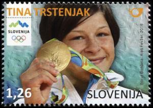 Slovenia. 2016. Slovene Olympic Medals – Tina Trstenjak (MNH OG) Stamp