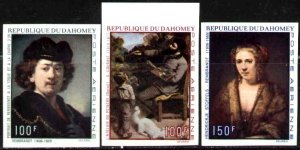 Paintings by Rembrandt Courbet, Dahomey SC#C113-5 MNH Imperf