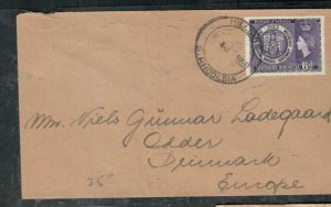 SOUTHERN RHODESIA COVER (P3006B)  1953 QEII 6D RHODES CENT COVER TO DENMARK