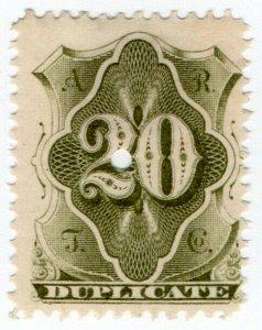 (I.B) USA Telegraphs : American Rapid 20c (Duplicate)
