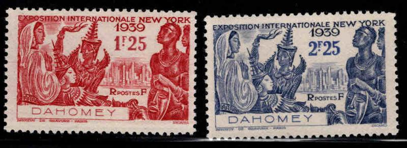 Dahomey Scott 111-112 NY Worlds Fair set MH* 1939