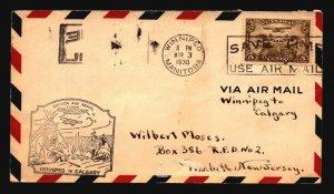 Canada 1930 FFC Winnipeg to Calgary - L2096