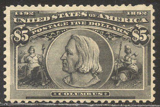 U.S. #245 SCARCE Mint - 1893 $5.00 Columbian