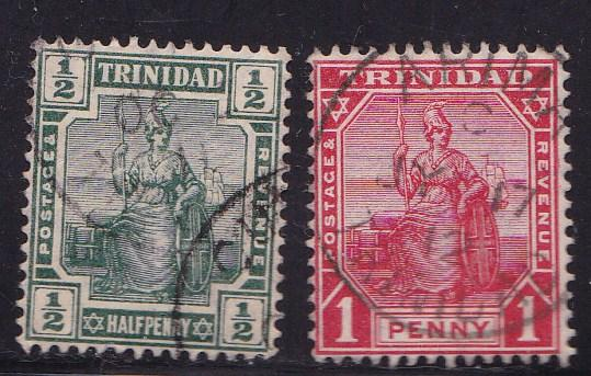 Trinidad 1883-1904 Scott 68//106  QV Stamps in FINE Used (O) Condition Small Lot