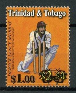 Trinidad & Tobago 2018 MNH Cricket Deryck Lance Murray OVPT 1v Set Sports Stamps