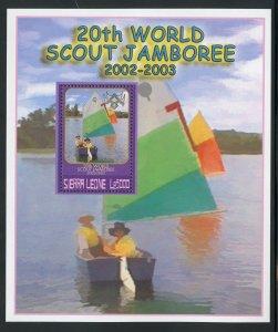 Sierra Leone 2554 MNH Scout World Jamboree Souvenir Sheet from 2002