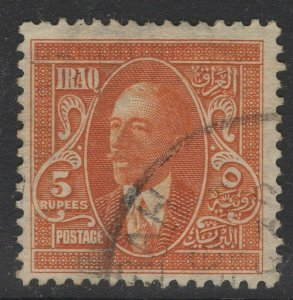 IRAQ SG90 1931 5r ORANGE USED