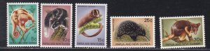 Papua New Guinea # 323-327, Animals, NH, 1/2 Cat.