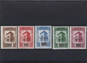 SAN MARINO  MOUNTED MINT OR USED STAMPS ON  STOCK CARD  REF R928