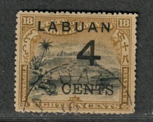 Labuan Sc#91 Used/VF, Cv. $21.50