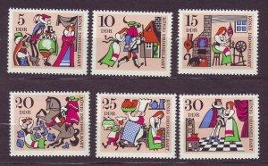 J23290 JLstamps 1967 germany DDR set mnh #968-73 fairy tales