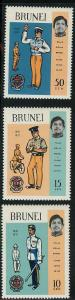 Brunei 165-167 Mint VF NH