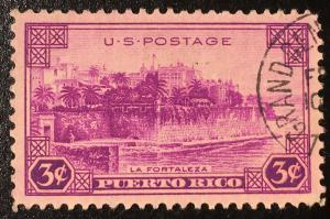 801 Puerto Rico, Territories Series, Circulated Single, Vic's Stamp Stash
