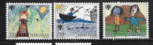 FAROE ISLANDS, 45-47, MNH, INTL. YEAR OF THE CHILD