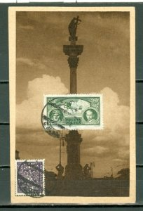 POLAND 1933 #C10 on INTERESTING CARD TO CANADA