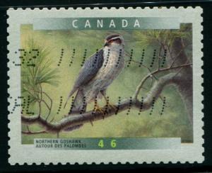 1774 Canada 46c Northern Goshawk SA, used