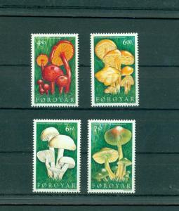 Faroe Is. - Sc# 315-8. 1997 Mushrooms. MNH $8.25.
