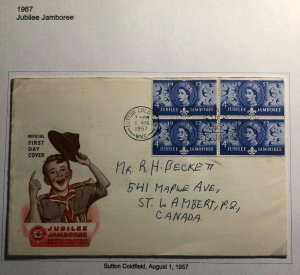 1957 Sutton Coldfield England First Day Cover FDC Scouts Jubilee Jamboree
