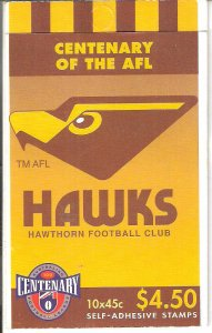Centenary AFL 20 Stamp Booklets Hawthorn Hawks Australia CTO