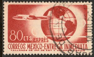 MEXICO E17, 80cents 1950 Definitive 2nd Printing wmk 300.USED. F-VF. (1475)