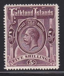 Falklands Scott # 38 VF-XF-LH mint nice color cv $ 250 ! see pic !