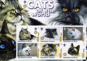 Benin MNH S/S Cats Of The World 2003 Large Size