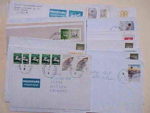 LITHUANIA  62 SMALL COVERS MOSTLY DIFFERENT VILLAGE CANCELS