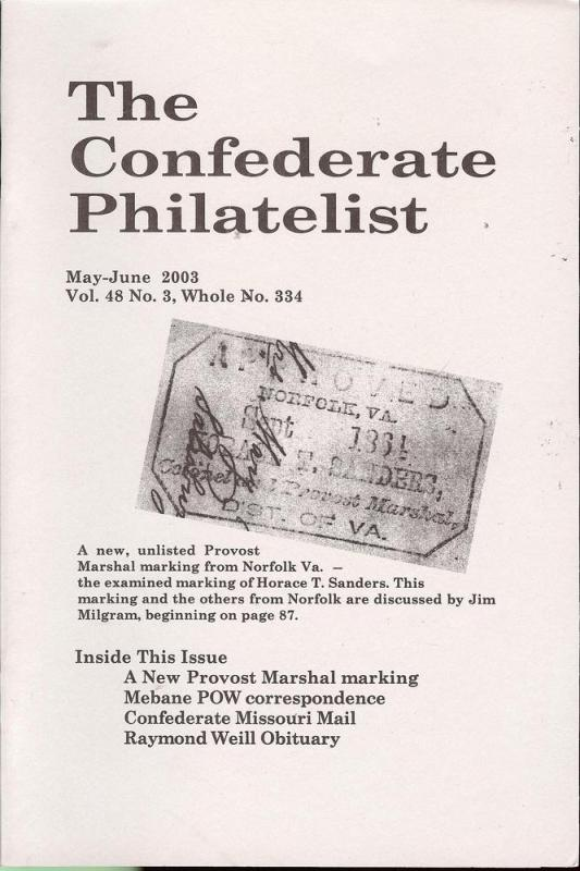 The Confederate Philatelist, CP 334