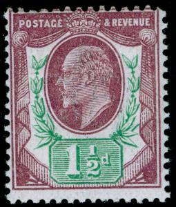 SG287 SPEC M10(-), 1½d dull reddish purple & green (F), NH MINT. HENDON CERT