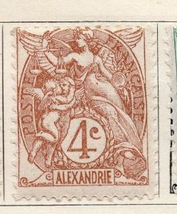 Alexandria 1902-13 Early Issue Fine Mint Hinged 4c. 054463