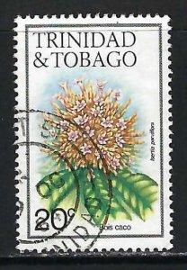 TRINIDAD & TOBAGO 395 VFU FLOWERS Q61