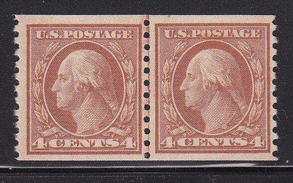 495 Linepair VF lightly hinged original gum Great color cv $ 75 ! see pic !