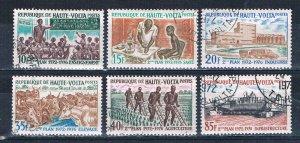 Burkina Faso 275-79 Used set Five year plan 1972 (HV0221)