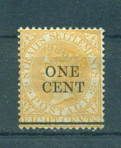 Straits Settlements sc# 80 mhr cat value $1.25