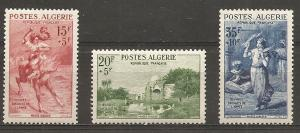 Algeria B91-3 1957 Army Welfare set NH