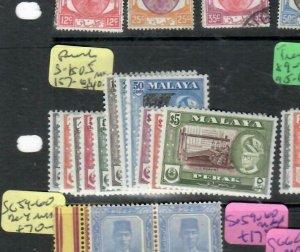 MALAYA PERAK  (PP2706B)  SULTAN  SG 150-5, 157-161  MOG