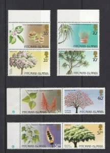 PN147) Pitcairn Islands 1983 / 1987 Trees Series I & II MUH
