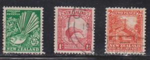 NEW ZEALAND Scott # 203-5 Used - Birds & Maori Council House