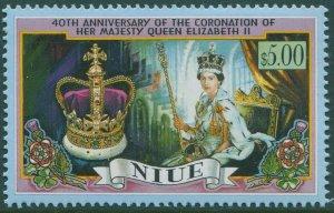 Niue 1993 SG773 $5 Coronation 40th QEII MNH