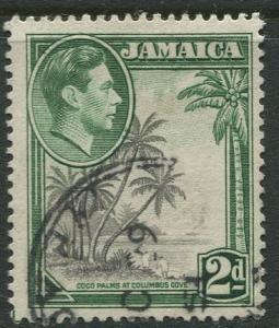 Jamaica -Scott 119 - KGVI Definitive -1938 - Used - Single 2p Stamp