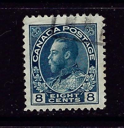 Canada 115 Used 1925 issue nibbed corner perf