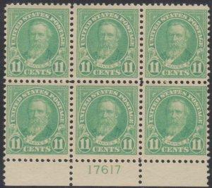 MALACK 563 VF/XF OG NH, post office fresh pb1634
