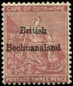 Bechuanaland SC# 3 o/p on Cape of Good Hope 3d MH wmk 2