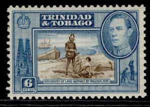 TRINIDAD & TOBAGO GVI SG250, 6c sepia & blue, LH MINT.