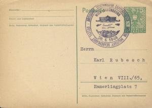 AUTRICHE / AUSTRIA 1946 (28 JUN) CARD MiP321 VIENNA BRITISH MILITARY TATTOO CDS